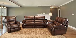 Power Leather Recliner Sofa Living Hawthorne Brown Leather Reclining Sofa Set Mhaw 832p Br