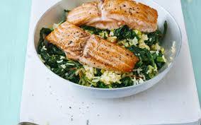 cuisine saumon riz sauté au saumon et épinards cuisine et recettes recette