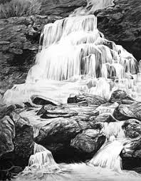 how to draw a waterfall step by step drawing pinterest