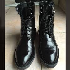 womens black combat boots size 9 65 zara shoes zara s black combat boots from