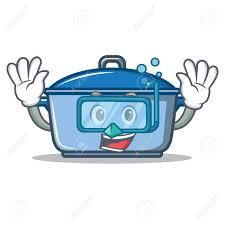 dessin casserole cuisine style de dessin animé de personnage de casserole de cuisine de