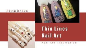 thin lines nail art mininmalist nail design using thin lines