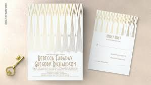 deco wedding invitations vintage wedding wedding invitations by jinaiji