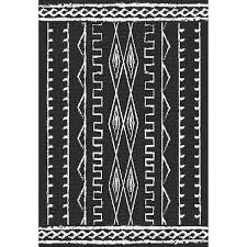 Outdoor Rug 3x5 by E146 Black And Ivory Vertical Helka Rug 3x5 Ft At Home