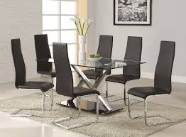 Dining Chair Set Of 4 Buy Set Of 4 Modern Dining Black Faux Leather Dining Chairs With