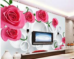 popular behang 3d rose buy cheap behang 3d rose lots from china beibehang high rise wallpaper rose stereo circles tv backdrop wall papel de parede 3d photo