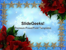 holly berries01 christmas powerpoint template 0610 powerpoint