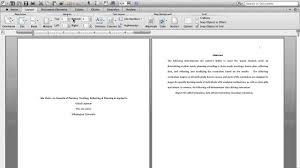 Sample Apa Essay Format Essay Format Apa Template