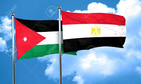 Eygpt Flag Jordan Flag With Egypt Flag 3d Rendering Stock Photo Picture And