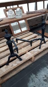fireplace log holder andirons dd rustiques