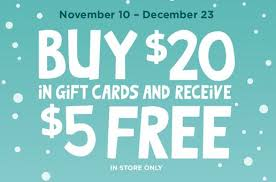 gift cards deals gift card freebies and deals for the holidays s