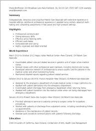 Example Of Healthcare Resume by Professional Patient Care Associate Templates To Showcase Your