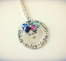 children s birthstone necklace birthstone necklace with children s names