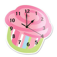 amazon com trend lab wall clock cupcake baby