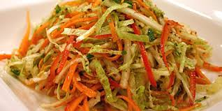 napa salad napa cabbage slaw with lime honey dressing recipes food network