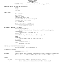 resume for college application sle resume phenomenal how to write for college application exles