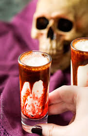 Bloody Milkshake Halloween Shots The 5 O U0027clock Chef