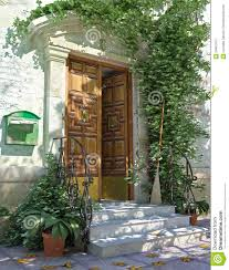 House Front Door Classic House Front Door With Stairs Stock Photos Image 24661813