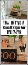 how to make a small sign for halloween shoppe no 5