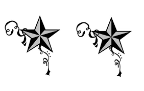star and swirl tattoo designs clipart library clip art library