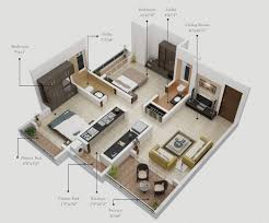 two bedroom floor plans two bedroom hall kitchen house plan 1000 images about 3d plan on