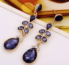 purple drop earrings astrid purple and diamond chandelier tear drop earrings