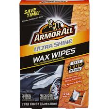 armor all ultra shine wax wipes 12 count auto wax wipes car wax