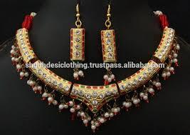 rajputi earrings rajputi ethnic rajasthani green lac faux necklace and earring