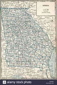 Map Of Ga Old Map Of Georgia State 1930 U0027s Stock Photo Royalty Free Image
