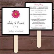 Diy Wedding Program Fans Kits Hand Fan Template Printable Wedding Program Fans Kit Template