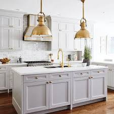 Gray Kitchen Island Gray Kitchen Island With Brass Large Country Industrial Pendants