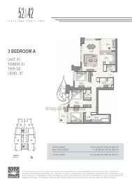 3 Bedroom Apartments Floor Plans by 52 42 1 Bedroom Apartment Floor Plan 1