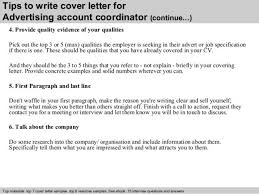 arts coordinator cover letter