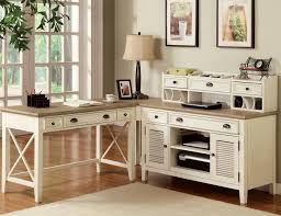 White Home Office Furniture Sets Wondrous Corner White Home Office Design With Single White Desk