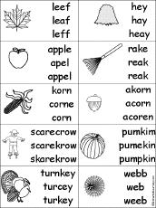 fall k 3 theme page at enchantedlearning com