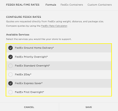 squarespace help fedex carrier calculated shipping
