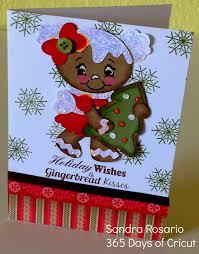 365 days of cricut 128 sweet gingerbread card ctmh