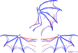 draw dragon wings step step dragons draw dragon