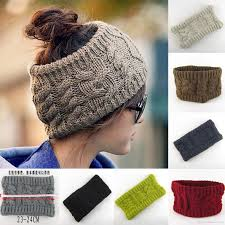 winter headbands 2017 hairband women crochet headband knit flower ear fashion