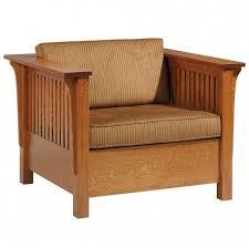 Mission Sleeper Sofa Sleeper Sofa Chair Amish Solid Wood Bed Craftsman Mission
