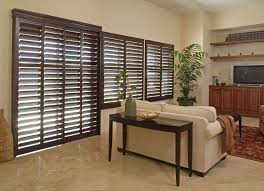 Wood Blinds For Patio Doors Norman Shutters Handcrafted Wood U0026 Composite Shutters