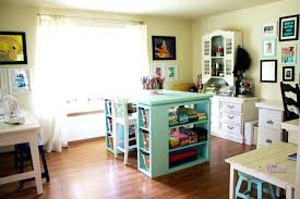 counter height craft table cozy diy crafting desk diy craft tables and free plans shelterness