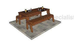 Folding Wood Picnic Table Plans by Folding Picnic Table Plans Howtospecialist How To Build Step