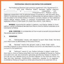 5 subcontractor agreement template marital settlements information