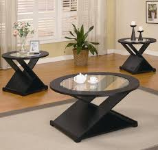 Coaster Occasional Table Sets Contemporary  Piece Round - Three piece living room set