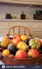 bowl of fruits a bowl of fruit on display in a kitchen in casa mila the antoni