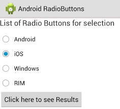 android radio button android radio buttons exle