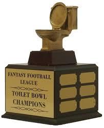 Armchair Quarterback Trophy Fantasy Football Perpetual Gold Toilet Bowl Trophy Award Ffl