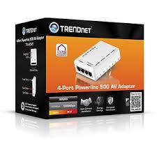 tpl 4052e trendnet tpl 4052e 4 port powerline av500 adapter up to 500 mbps