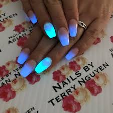 glow in the dark nails glow nails acrylic rockstar nails